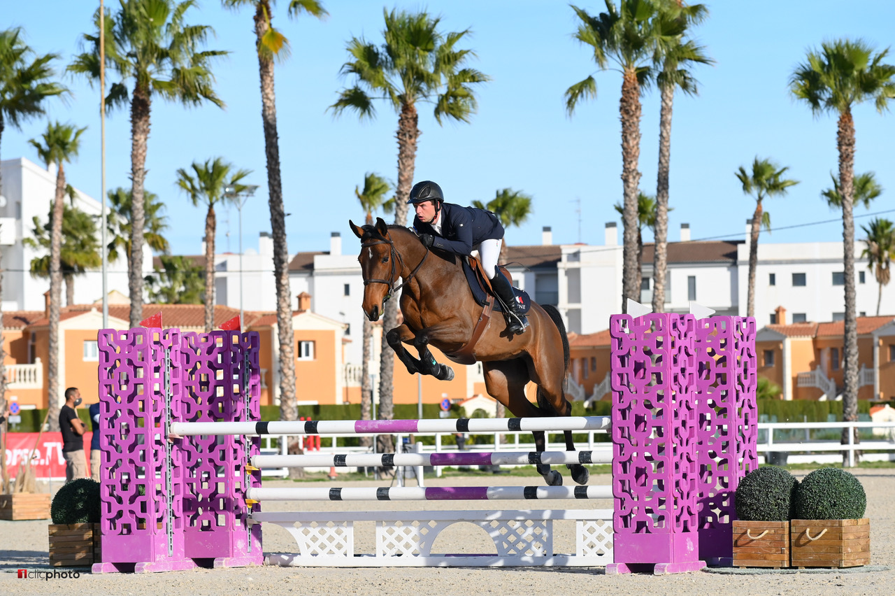 """<span  class=""""uc_style_uc_tiles_grid_image_elementor_uc_items_attribute_title"""" style=""""color:#ffffff;"""">Oliva, Spain - 2021 January 27: CSIYH1, 5 years old, 1m20 during CSI Mediterranean Equestrian Spring Tour 1 (photo: 1clicphoto)</span>"""